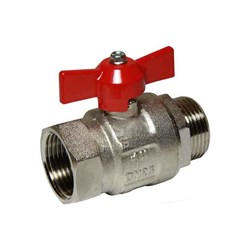 BRASS BALL VALVE - T Handle, BSP Male x Female