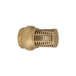 BRASS FOOT VALVE - Brass Seat x BSP Female