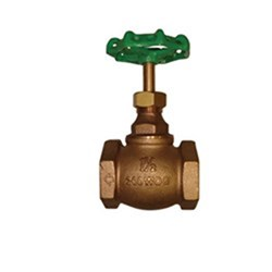 BRONZE GLOBE VALVE - Screwed in bonnet design, PTFE Seat x BSP Female