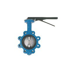 CAST IRON BUTTERFLY VALVE - LUGGED x Lever Operated, Buna seals