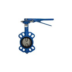 CAST IRON BUTTERFLY VALVE - WAFER x Lever Operated, Buna Seals