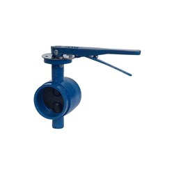 CAST IRON BUTTERFLY VALVE - WAFER WATERMARK x Lever Operated, Roll Groove