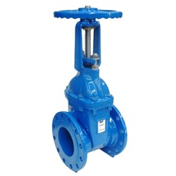 CAST IRON GATE VALVE - Rising Stem, Flanged Table E, Resilient Seat