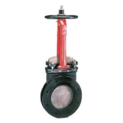 CAST IRON KNIFEGATE VALVE - Resilient Seat x Table E