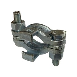 CAST STEEL HOSE CLAMP - Safety Double Bolt with Claw