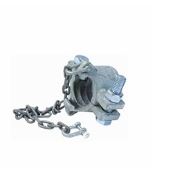 CAST STEEL HOSE CLAMP - Safety Double Bolt with Claw and chain
