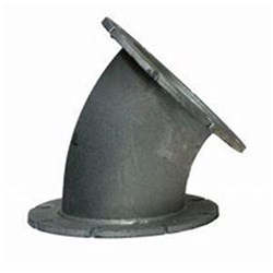 GAL FLANGED 45 ELBOW Fixed Flanges