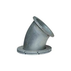 GAL FLANGED 45 ELBOW Fixed x Swivel Flange