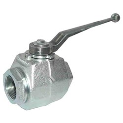 HYDRAULIC Ball Valve - BSP Female, ZP steel forged body, steel handle, NBR seals