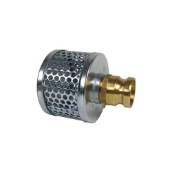STEEL PLATED SUCTION STRAINER - CAMLOCK Male Adaptor