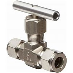 STAINLESS STEEL 316 NEEDLE VALVE, High Pressure, Tube Compression