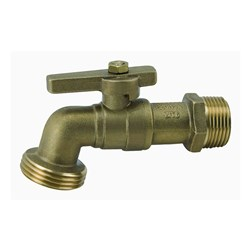 DR BRASS BALL BIBCOCK VALVE - T Handle x BSP Male