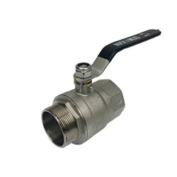 BRASS BALL VALVE - Stainless steel handle, BSP Male x Female