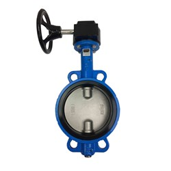 CAST IRON BUTTERFLY VALVE - WAFER x Gear Operated, Buna seals