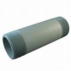 "PVC GREY PIPE RISER - Threaded 1/2"" BSPT both ends, Sch 80"